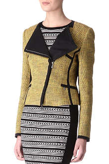 KAREN MILLEN Tweed biker jacket