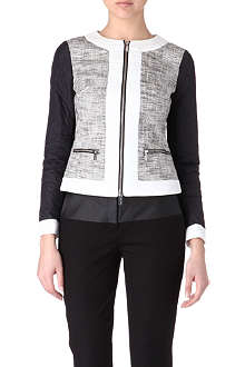 KAREN MILLEN Quilted tweed jacket