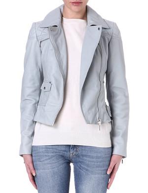 KAREN MILLEN Signature leather biker jacket