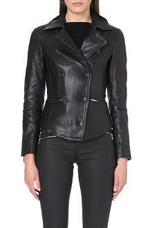 KAREN MILLEN Leather reefer jacket