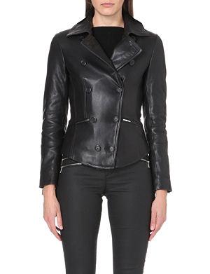 KAREN MILLEN Leather reefer jacket