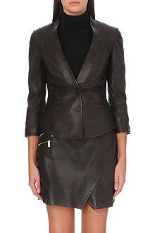 KAREN MILLEN Tailored leather jacket