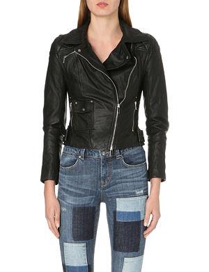KAREN MILLEN Signature leather jacket