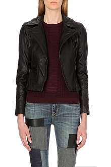 KAREN MILLEN Signature leather biker jacket