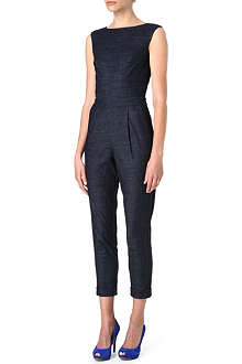 KAREN MILLEN Tailored denim jumpsuit