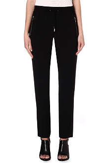 KAREN MILLEN Zip-detailed tailored trousers
