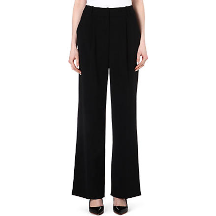 KAREN MILLEN Tailored wide leg trousers (Black