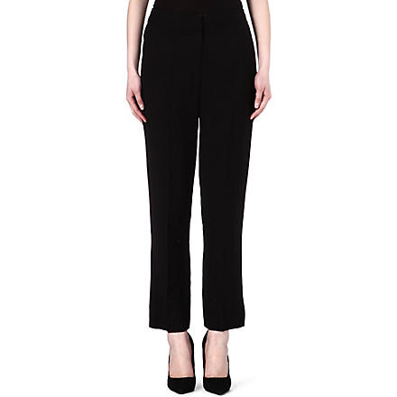 KAREN MILLEN Tailored wide-leg trousers (Black
