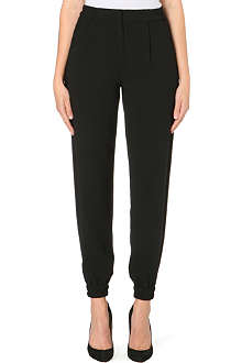 KAREN MILLEN Tapered crepe trousers