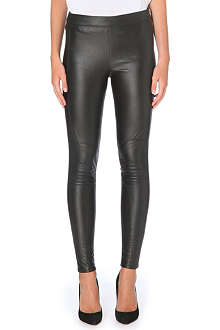 KAREN MILLEN Faux leather jersey leggings