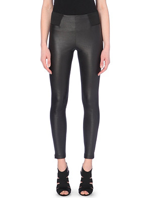 KAREN MILLEN Faux-leather leggings