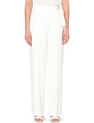 KAREN MILLEN Limited Edition straight leg crepe trousers