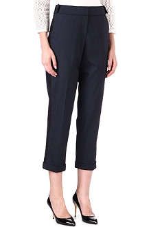 KAREN MILLEN Cropped wool trousers