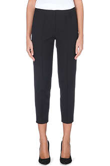 KAREN MILLEN Cropped stretch-cotton trousers
