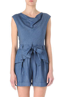 KAREN MILLEN Chambray playsuit