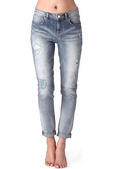 KAREN MILLEN Boyfriend-fit tapered jeans