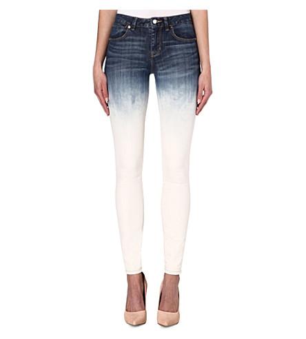 KAREN MILLEN Vintage wash dip-dye skinny jeans (Denim