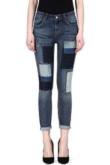 KAREN MILLEN Patchwork skinny jeans