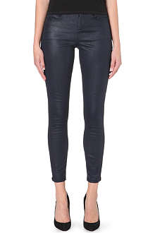KAREN MILLEN Indigo coated and jersey jeans