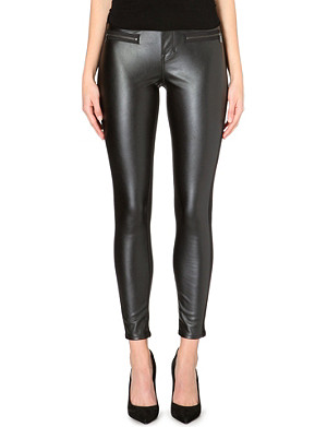 KAREN MILLEN Faux-leather skinny trousers