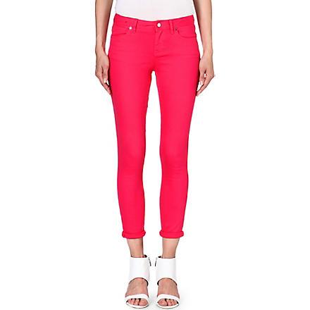 KAREN MILLEN Skinny capri jeans (Pink