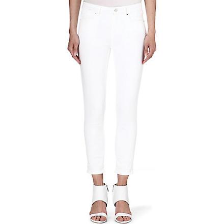 KAREN MILLEN Skinny capri jeans (White