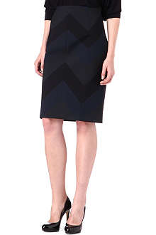 KAREN MILLEN Zig-zag pencil skirt