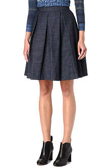 KAREN MILLEN Tailored denim skirt