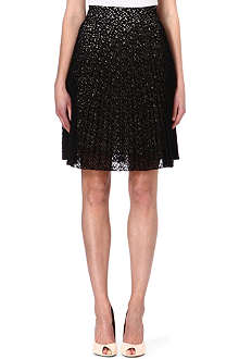 KAREN MILLEN Pleated lace skirt