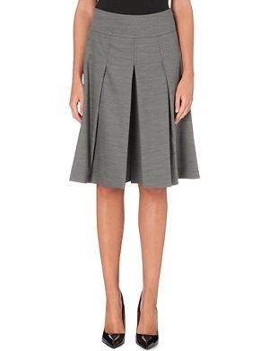 KAREN MILLEN Tailored wool-blend culottes