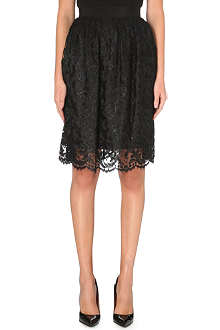 KAREN MILLEN Scallop lace skirt