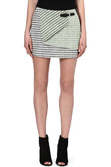 KAREN MILLEN Neon tweed skirt