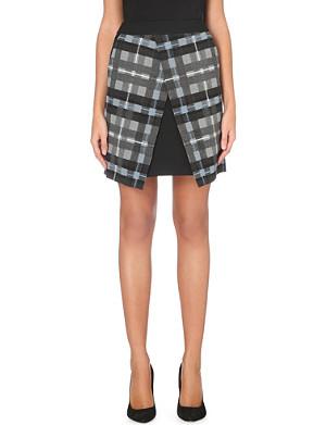 KAREN MILLEN Checked mini skirt