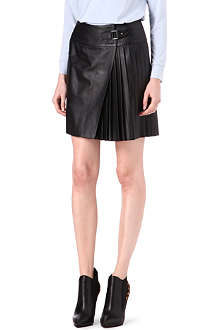 KAREN MILLEN Leather pleated skirt