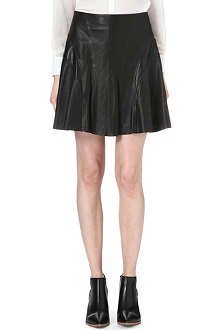 KAREN MILLEN Leather flippy skirt