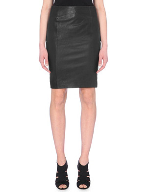 KAREN MILLEN Leather pencil skirt