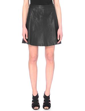 KAREN MILLEN Leather skirt