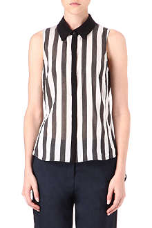 KAREN MILLEN Striped sleeveless shirt