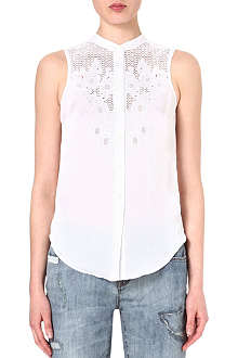 KAREN MILLEN Sleeveless embroidered shirt