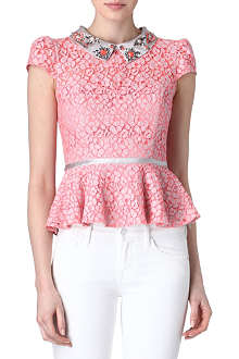 KAREN MILLEN Party beaded top