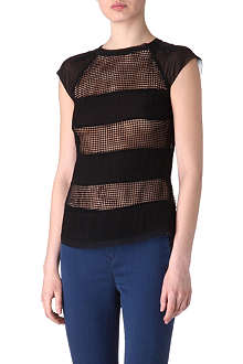 KAREN MILLEN Sheer panels top