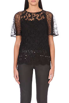KAREN MILLEN Patchwork lace top