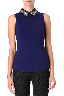 KAREN MILLEN Embellished-collar top