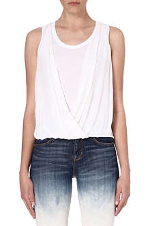 KAREN MILLEN Draped silk and cotton top