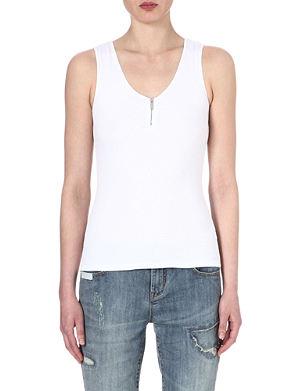 KAREN MILLEN Essential zip-front jersey top