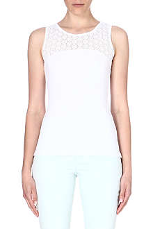 KAREN MILLEN Sleeveless cotton top