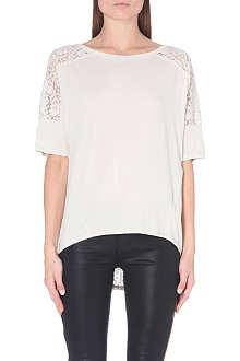 KAREN MILLEN Batwing lace t-shirt