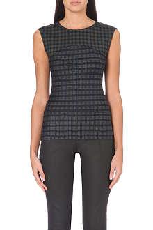 KAREN MILLEN Check panelled vest