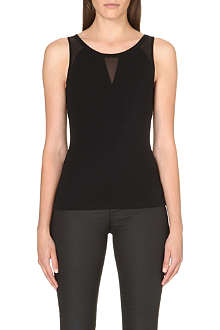 KAREN MILLEN Fitted ponte vest top