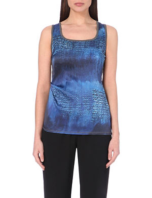 KAREN MILLEN Printed satin top